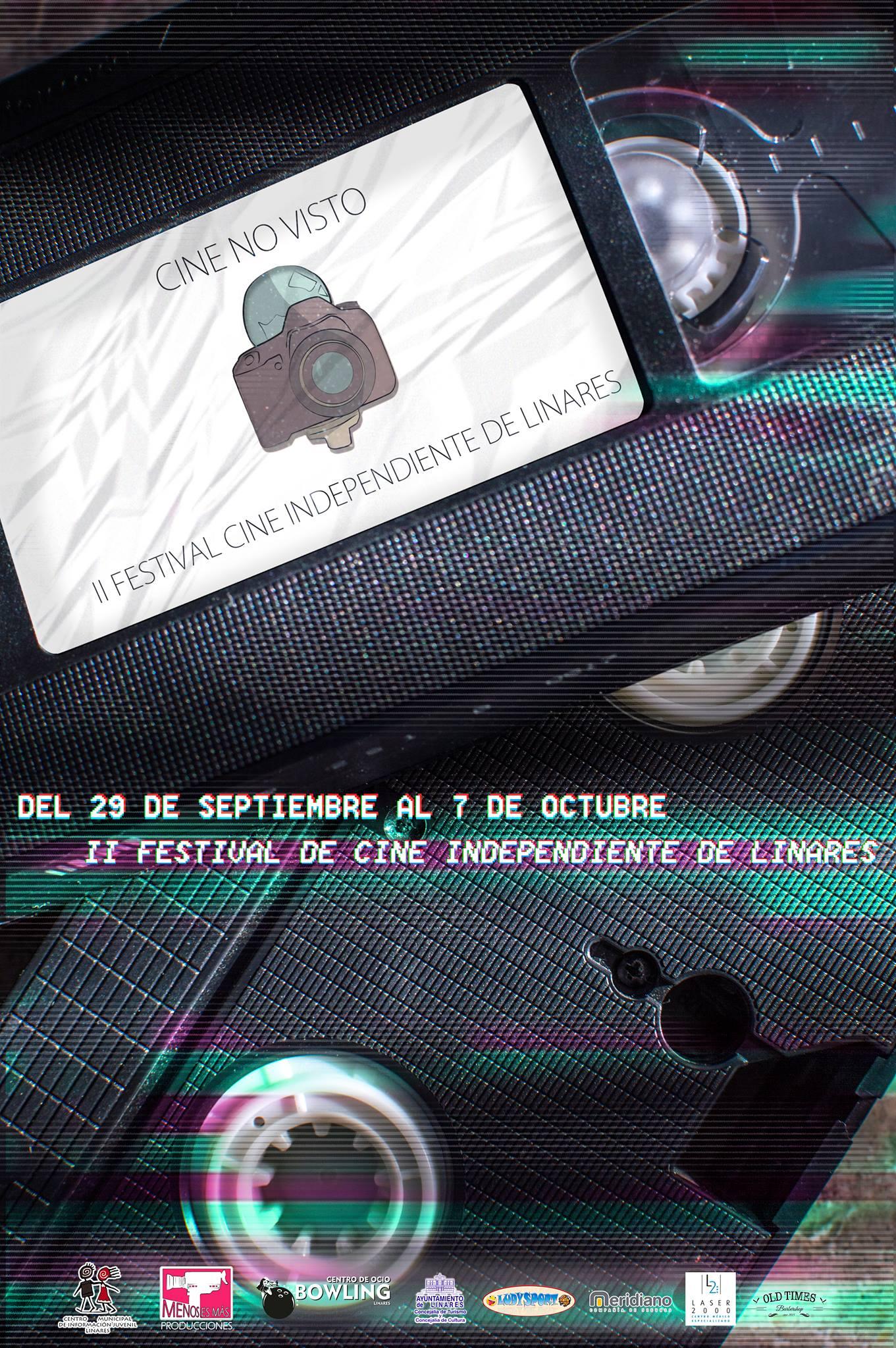 Cartel de la segunda edición del Festival de Cine No Visto.