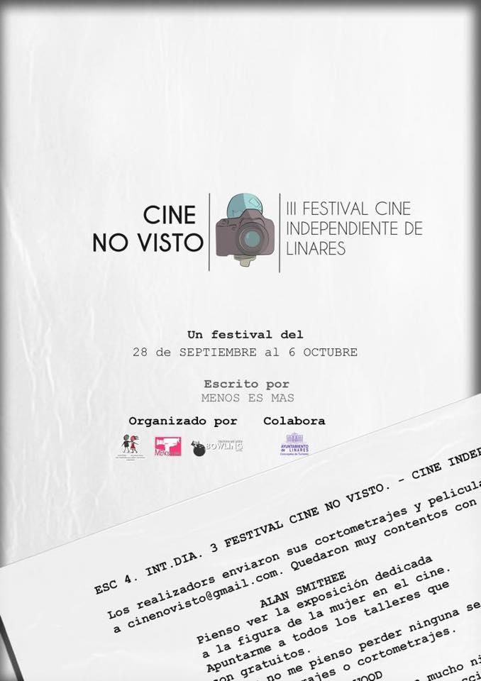Cartel de la tercera edición del Festival de Cine No Visto.