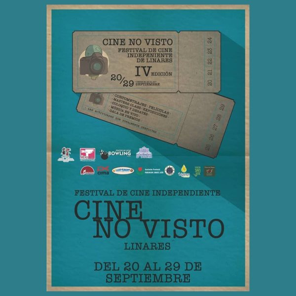 Cartel de la cuarta edición del Festival de Cine No Visto.